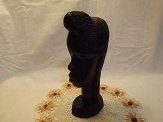 Hand-carved Wooden Bust Vintage Tribal by OutrageousVintagious