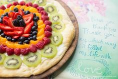 Easy, Edible Mother's Day Gift: Fresh Fruit Pizza and a Mother's Day Card that says it all! Taking time out with Mom to relax, refresh and remember. Photo courtesy of @rachael_yerkes. Best Moms Day Ever SWEEPS Best Moms Day Ever SWEEPS AD