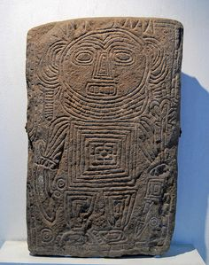 West Mexico Carved Stone    a very unusual slab of carved stone said to have been found in western Mexico. On display at the Tamayo Museum in Oaxaca Mexico