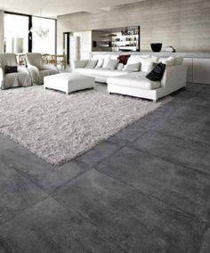 450 x 900 concrete look floor tiles, the ' new' size.