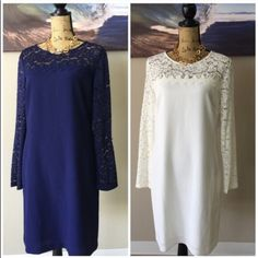 LAUNDRY By SHELLI SEGAL Dresses Measurement details in photo.  Choose from either blue or white, both available. Laundry by Shelli Segal Dresses
