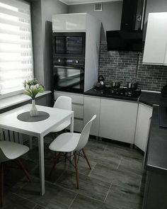 39 Inspiring Tiny Kitchen Design Ideas – Home Decoration Farmhouse Style Kitchen, Modern Farmhouse Kitchens, New Kitchen, Awesome Kitchen, Tiny Kitchens, Beautiful Kitchen, Kitchen Room Design, Interior Design Kitchen, Kitchen Decor