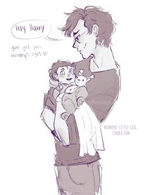 "nowhere-little-girl: ""  Happy Father's Day!!! Little sketch of James and baby Harry ❤️(ノ◕ヮ◕)ノ*:・゚✧ so I was imagining James all excited and with a silly smile cuz it was his first Father's Day and all…then I thought it may have never crossed his mind..."
