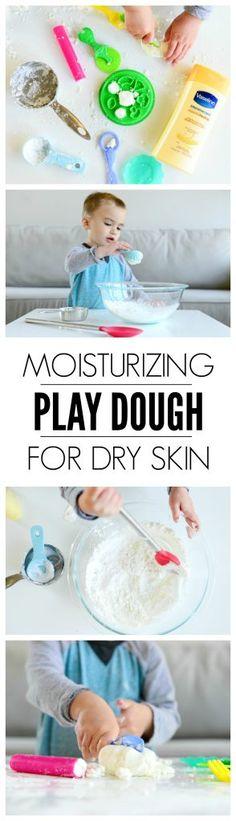 Moisturizing Play Dough for Dry Winter Skin