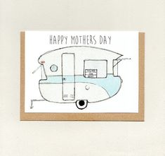 The more Paisley Five cards you buy the bigger the discount AND combined shipping has already been calculated = extra savings. Purchase 2 to 100 cards here… Mothersday Cards, Retro Caravan, Dalek, Mom Birthday, You're Awesome, Happy Mothers Day, Rv, Camper, Paisley