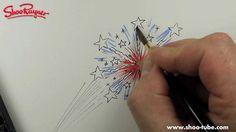 How to draw fireworks, via YouTube.