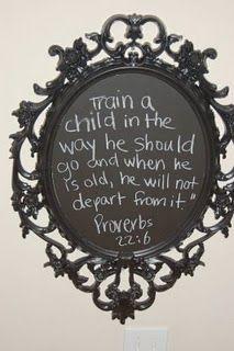great idea for chalk board paint