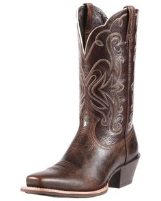 Deep Chocolate Brown Women's Cowboy Boots | http://www.countryoutfitter.com/products/30362-womens-legend-boot-chocolate-chip-teak