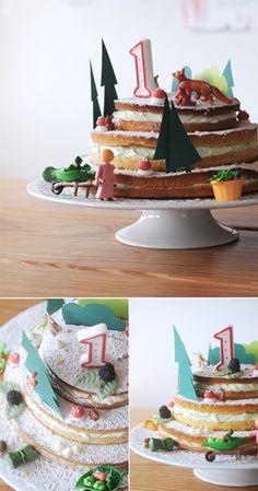 tarta little circus 2 Una tarta diferente y bonita