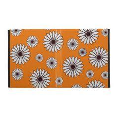 Cute Orange with White Flowers #iPad Case $55.95