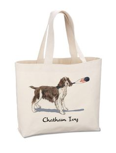 English Springer Spaniel Beach Tote by Chatham Ivy - Springer Spaniel - Preppy Dog Tote Cotton Tote Bags, Reusable Tote Bags, Preppy Stickers, Woody Wagon, Boat Accessories, English Springer Spaniel, Spring Fever, Family Dogs, Clothing Company