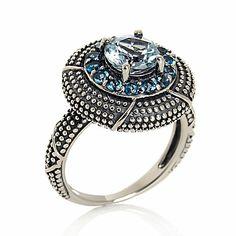 Hilary Joy 1.56ct Aquamarine and London Blue Topaz Ring on HSN.com