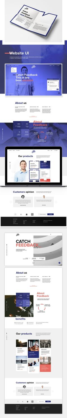 Catch Feedback - Branding and Website on Behance