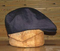d80c16768ea Custom Handmade Denim Flat Jeff Cap