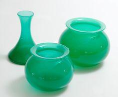 April, glassvaser designet av Willy Johansen for Hadeland Glassverk