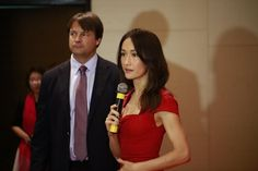 "WildAid managing director John Baker and Maggie Q at the ""Stop Using Rhino Horn"""