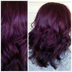 10 plum hair color ideas for women plum burgundy hair dye – lf styles Plum Violet Hair, Burgundy Plum Hair Color, Violet Hair Colors, Hair Color Purple, Hair Color And Cut, Haircut And Color, Plum Colour, Red Color, Lilac Hair