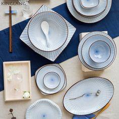Japoński styl HENG FENG ceramiki stołowej Parze ryby sauce danie miska Ryżu miska zupy płyta płyta sushi procelain