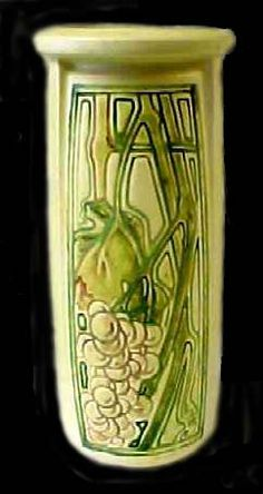 Weller Pottery vase. Weller Pottery was founded by Samuel Weller in Fultonham, Ohio, United States in 1872.  The initial products produced by Weller included flower pots, crocks, bowls, and vases.