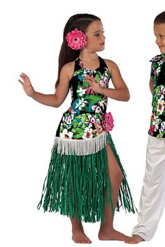 New Ideas For Flowers Girl Costume Ideas Hula Girl Costume, Girl Costumes, Costume Ideas, Luau Outfits, Dance Outfits, Dance Fashion, Kids Fashion, Hawaiian Costume, Dance Recital Costumes