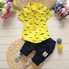 58ce3dfc2e1c34 Toddler Kids Baby Boy Clothes Casual Boys Cotton Outfits Sets Shirt ...