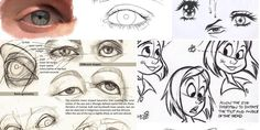 Enjoy a collection of references for Character Design: Eyes Anatomy. The collection contains illustrations, sketches, model sheets and tutorials… This