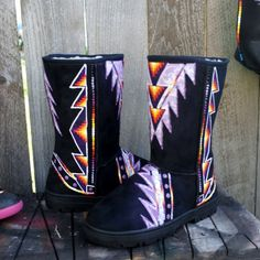 size 8 Hand Painted Boots  By  Rez Hoofz    ready to ship  Please Read full discription below by REZHOOFZ on Etsy