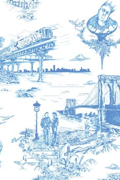 Brooklyn Toile @flavorpaper -- i want this so badly