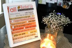 Fall Bucket List (free printable)...list things you want to do this season as a family, frame it, then use a dry erase marker to check them off.  Love this idea.
