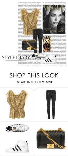 """""""Gold and black * Angelina Jolie Vogue Turkey March 2012 Magazine Cover *"""" by carinatempelman ❤ liked on Polyvore featuring Alice + Olivia, Paige Denim, adidas Originals and Khristian A. Howell"""