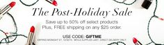 POST HOLIDAY SALE: Save up to 50% off select items + #freeshipping on any $25+ order when you use code:GIFTME at http://jantunes.avonrepresentative.com until 12/30/15