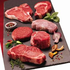 USDA inspected to assure the safest and finest quality beef and pork available Certified Choice and Prime grade Beef Beef is from midwestern corn-fed cattle Prince Premium Meat Sampler (NY Strip, Filets, Ribeyes, T-Bones, Pork Chops & Burgers)