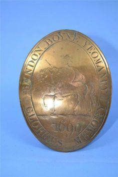 very rare Irish Brandon Boyne Yeomanry shoulder badge William of Orange 1690   eBay