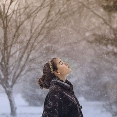 Lost in a snowy thought...Grateful for the moments I take to stop and just take everything in =)