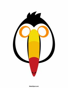 Toucan Mask Templates Including A Coloring Page Version Of The Free Printable Pdf At