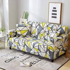 Elastic Slipcovers Stretch Sofa Cover for Living Room Sectional Couch Cover L shape Armchair Cover Single/Two/Three/Four Seat Sofa Cushion Covers, Couch Covers, Cushions On Sofa, Pillow Covers, Living Room Sectional, Sectional Sofa, Home Living Room, 3 Seater Sofa, Plaid Sofa