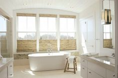 30 Superb Bathroom Design Ideas With Wood Shades. Excellent 30 Superb Bathroom Design Ideas With Wood Shades With 30 Superb Bathroom Design Ideas With Wood Shades. Great 30 Superb Bathroom Design Ideas With Wood Shades With 30 Superb Bathroom Design Ideas Bathroom Window Curtains, Bathroom Window Treatments, Bathroom Blinds, Kitchen Blinds, Bathroom Windows, Brick Bathroom, Basement Windows, Diy Design, Design Your Home