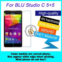 2pcs For BLU Studio C 5+5 High Clear Screen Protector, Glossy Screen Protective Film #Affiliate