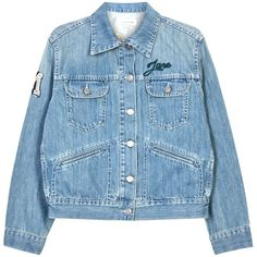 Womens Denim Jackets Isabel Marant Étoile Purd Appliquéd Denim Jacket (1268425 PYG) ❤ liked on Polyvore featuring outerwear, jackets, coats & jackets, coats, blue jean jacket, embroidered denim jacket, embroidered jean jacket, blue denim jacket and light blue jean jacket