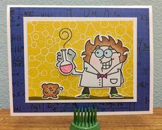 We have great chemistry! - Scrapbook.com - Cute card made with Paper Smooches dies and stamps.