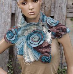 Crochet cowl Scarf unique desing Bridal unique Scarf Womens
