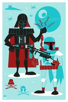 Vader and Fett /// by Ian Glaubinger