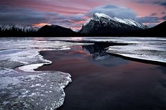 Mt Rundle - Banff, Alberta, Canada by Luke Austin City Landscape, Landscape Photos, Banff National Park, National Parks, Costa, Beautiful Places To Live, Amazing Places, Sun And Water, Sand Dollars