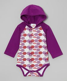 Another great find on #zulily! Indigo & Red Circle Hooded Bodysuit - Infant by nktoo by Nohi Kids #zulilyfinds
