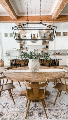 Modern Farmhouse Kitchens, Home Kitchens, Rustic Chic Kitchen, Remodeled Kitchens, Modern Farmhouse Lighting, Warm Kitchen, European Kitchens, Neutral Kitchen, Modern Farmhouse Interiors
