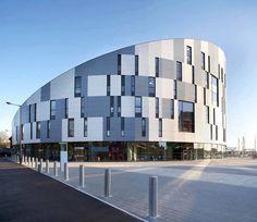 RMJM arch. Suffolk university campus (UK). EQUITONE facade materials. equitone.com
