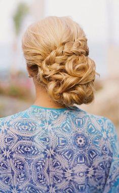 braided updo wedding hairstyle