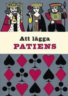 KQJ  ♠♦♣♥♠ ♦♣♥♠♦ ♣♥♠♦♣ Att lägga patiens - cover by Rolf Lagerson, 1957