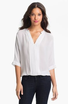 Pretty silk blouse. A white blouse always works but would be prettier in a brighter color.  (Joie 'Marru' Silk Blouse, Nordstrom)