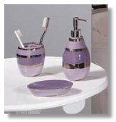Purple And Gray Bathroom Accessories Home Design Plan